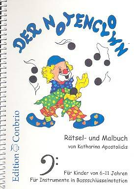Der Notenclown - Rätsel- und Malbuch