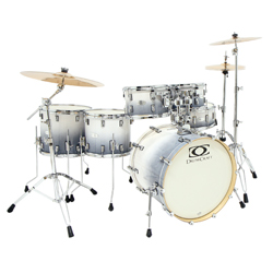 DrumCraft DC-6 Limited Drumset Great White Fade
