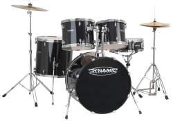 Dynamics Drumset komplettes Einsteiger Set inkl. Hocker und Becken