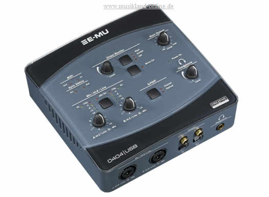 E-MU 0404 USB 2.0 Audio/MIDI-Interface inkl. Software