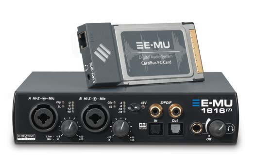 E-MU 1616M Cardbus/PCMCIA Audio-Interface