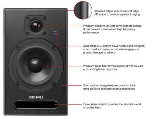 E-MU PM-5 Monitor Paar aktiv