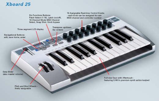 E-MU XBoard 25 Midi-Keyboard