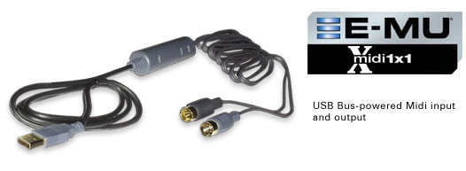 E-MU Xmidi 1x1 USB Interface
