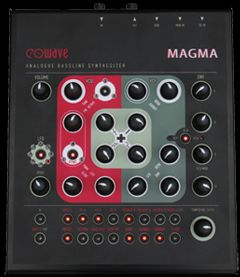 EOWave MAGMA analog bassline mit sequenzer