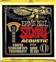 Ernie Ball EB-2154 Acoustic Coated Titanium Saiten 013-056