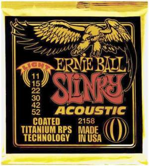 Ernie Ball EB-2158 Acoustic Coated Titanium Saiten 011-052