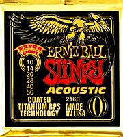 Ernie Ball EB-2160 Acoustic Coated Titanium Saiten 010-050