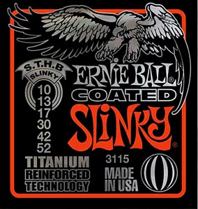 Ernie Ball EB-3115 Coated Skinny Top E-Gitarren Saiten 010-052
