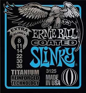 Ernie Ball EB-3125 Coated Extra Slinky E-Gitarren Saiten 008-038