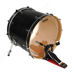 Evans BD26GB3 EQ3 Clear Bassdrum Fell 26""