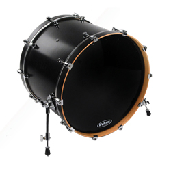 Evans BD26RA EQ1 Bassdrum Resonanzfell black 26""