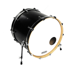 Evans EQ3 Bassdrum Resonanzfell Smooth White 22""