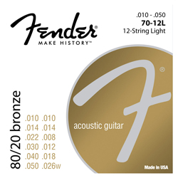 Fender 80/20 Bronze Acoustic Strings 70-12L