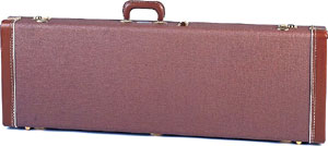 Fender E-Gitarren Case DLX Brown Tolex