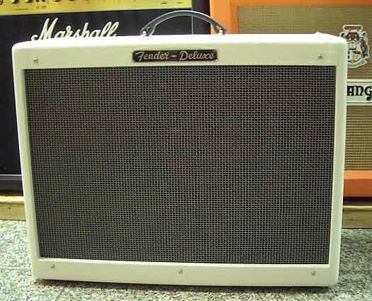 Fender Hot Rod Deluxe white Sondermodell E-Gitarren Combo