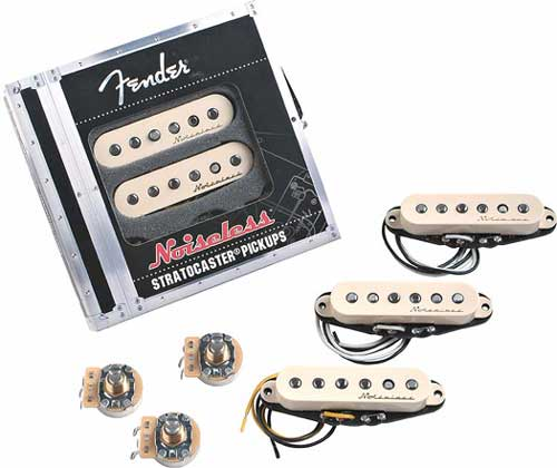 Fender Noiseless Vintage Single Coil Strat Pickup Set weiss