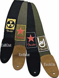 Fender Patchworks Cotton Gurt REDSTAR green