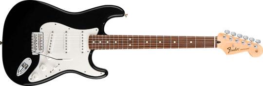 Fender Standard Stratocaster PF BLK Mexico Upgrade