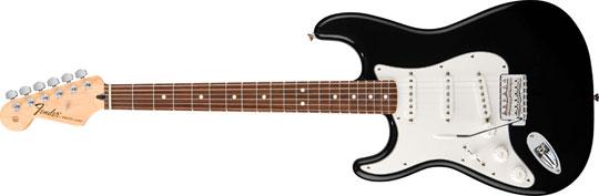 Fender Standard Stratocaster RW BLK lefthand Mexico Upgrade
