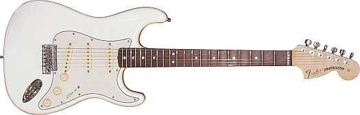 Fender Stratocaster Pro CC MN-White inkl. Case