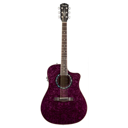 Fender T-Bucket 300CE Westerngitarre Transparent Violet