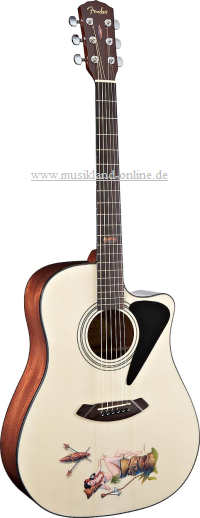 Fender Tiki Femme Fatale Acoustic Gitarre