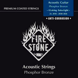 Fire&Stone Westerngitarren Saiten 10-50 Extra Light 12string