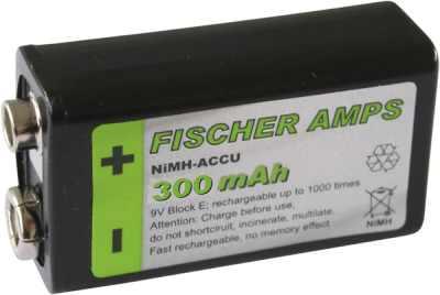 Fischer Amps NiMH Akkus 9V-Block Akku 270mAh