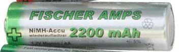 Fischer Amps NiMH Mignon AA Akku 2200 mAh