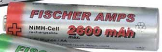 Fischer Amps NiMH Mignon AA Akku 2600 mAh