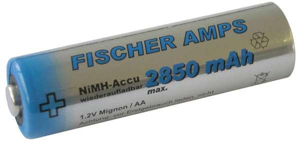 Fischer Amps NiMH Mignon AA Akku 2850 mAh
