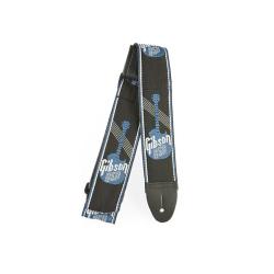 Gibson Woven Gitarrengurt Logo-Steel Blue