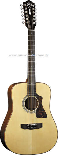 Guild GAD-G212 E natur Dreadnought 12 String mit Fishman PU