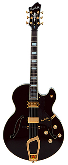 Hagstrom HJ500 Black World Vintage Serie Jazz Gitarre