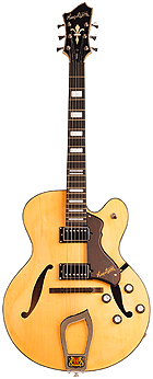 Hagstrom HJ500 Natural World Vintage Serie Jazz Gitarre