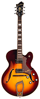 Hagstrom HJ600 Vintage Sunburst World Vintage Jazz Gitarre