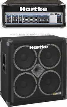 Hartke Halfstack 3500 Basstopteil + VX-410 Bassbox