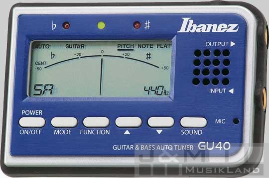 Ibanez GU-40 BL Stimmgerät