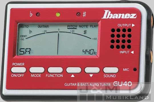 Ibanez GU-40 RD Stimmgerät
