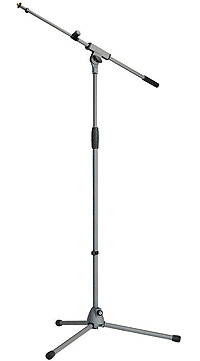 K&M 21080 Mikrofonstativ SoftTouch grau