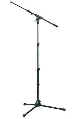 K&M 25200 Mikrofonstativ mit ausziehbarer Schwenkarm schwarz