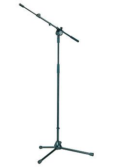 K&M 25600 Mikrofonstativ mit ausziehbarem Schwenkarm schwarz