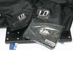 LD-Systems Zubehör-SET Dave 12+ Rollbrett, Bags, Spanngurt