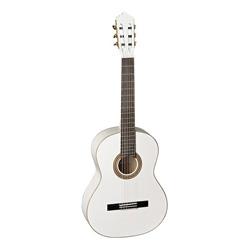 La Mancha Glacial White Metallic Konzertgitarre