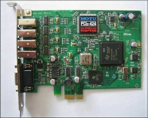 MOTU 424 PCIexpress Karte Mac/Win
