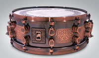 """Mapex 14""""x5,5 BLACK PANTHER Special Edition Mayan Steel Snare"""