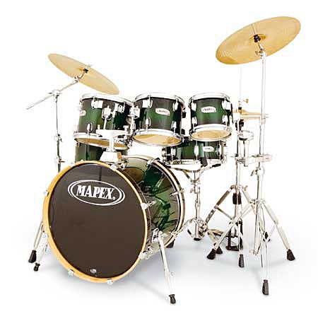 Mapex Drumset M-Birch MB-5255ABG in Black Forest Green