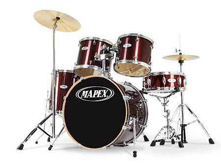 Mapex Drumset Q-5254ABY Q-Serie in Dark Burgundy inkl. Hardware