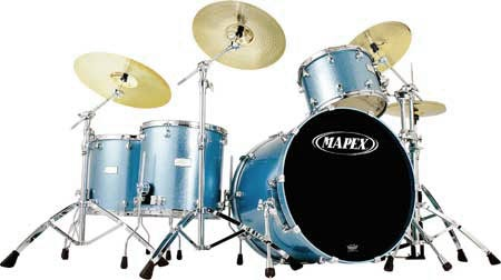 Mapex Drumset Saturn SW-5245AEU in Electric Blue Sparkle
